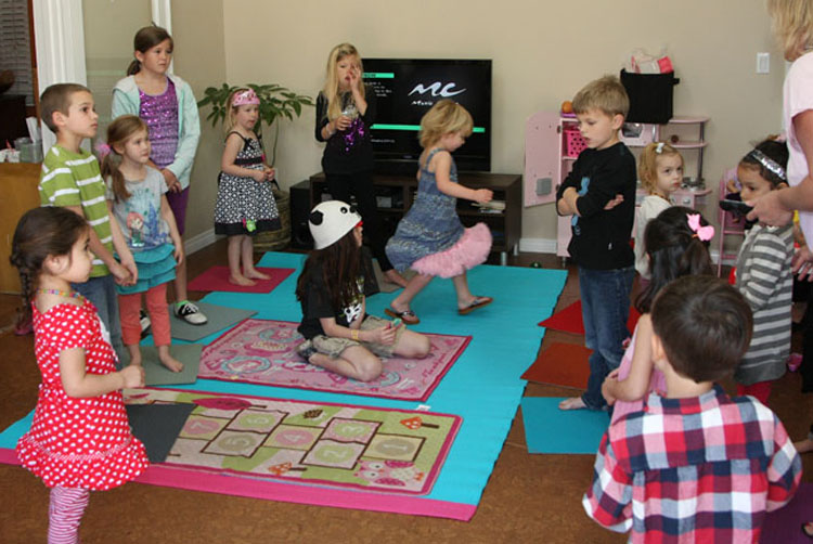 A party game of musical squares