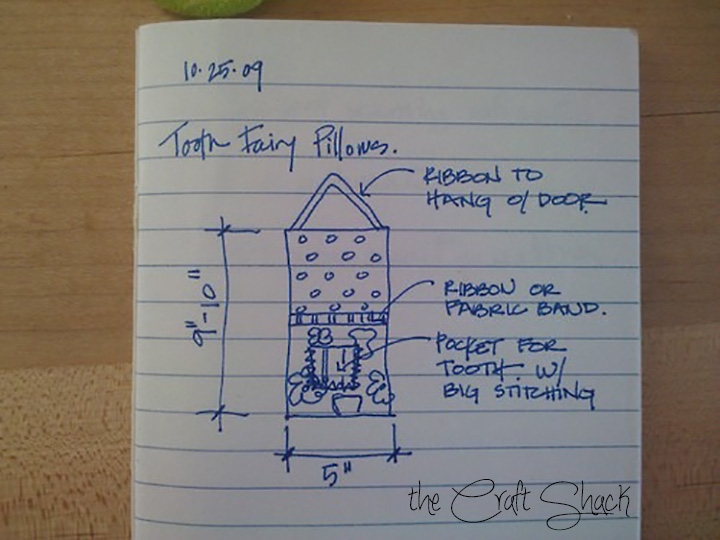 tooth fairy pillow concept sketch